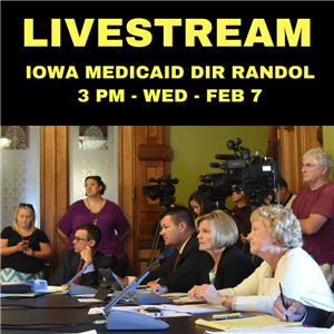 Dems: Livestream on Wednesday – More changes to Iowa Medicaid