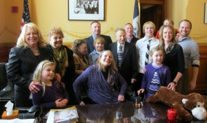 President Jochum with her family, January 14, 2013